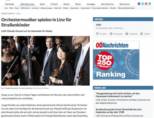 """""""Orchestermusiker spielen in Linz für Straßenkinder"""""""